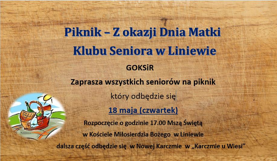 afisz piknik seniorów